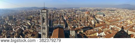 Beautifull Panoramic Shoot Of Florence From The Top Of The Dome