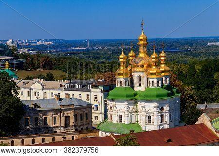 View Of Church Of All Saints In Kiev Pechersk Lavra (kiev Monastery Of The Caves) In Ukraine. Kiev C
