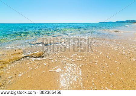 Turquoise Water In Piscina Rei Beach In Sardinia, Italy