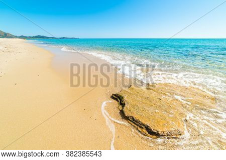 Rocks And Sand In Piscina Rei Beach. Sardinia, Italy