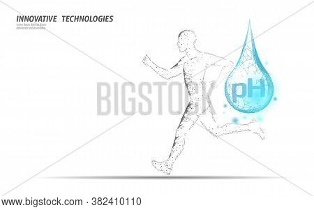Water Aqua Ph Jogger Rehydration Concept. Health Care Against Dehydration Isotonic Electrolytes Drin