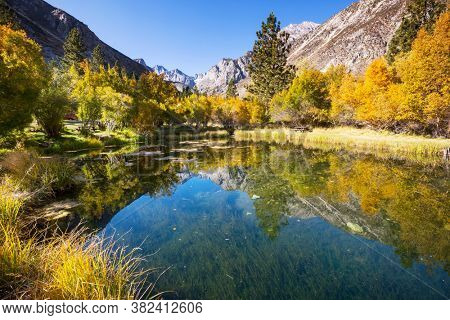 Beautiful nature scene in spring mountains. Sierra Nevada landscapes.