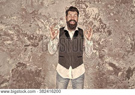 Jewish Holiday. Emotional Expression. Charming Jewish Person. Bearded Jewish Man. Jewish Traditions.