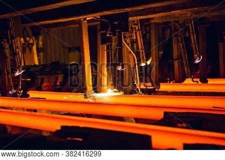 Hot Billet Bloom Continuous Casting, Also Called Strand Casting.