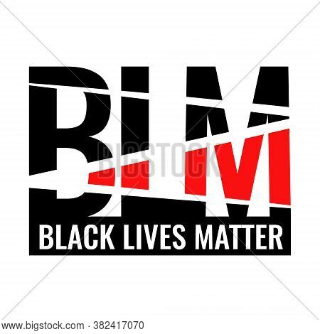 Logo Blm. Black Lives Matter. For Printing Flags, T-shirts, Signage, And Other Purposes. On The Huma