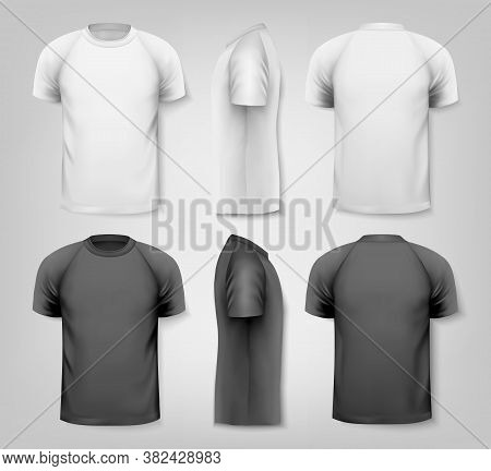 Colorful Male T-shirts. Design Template. Vector Graphic Element