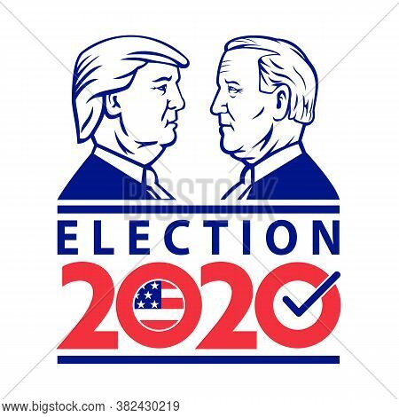 Aug 26, 2020, Auckland, New Zealand: Illustration Of American Presidential Election 2020 Showing Rep