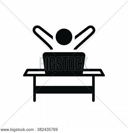 Black Solid Icon For Eager Avid Fervent Impatient Desirous Ambitious Acquisitive Enthusiastic Cheer-