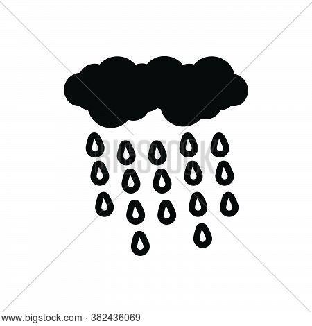 Black Solid Icon For Rain Rainfall Precipitation Raindrops Wet-weather Wet Weather Drizzle Rainstorm