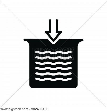Black Solid Icon For Below Underneath Beneath Bottom Underwater Level Arrow Water