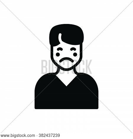 Black Solid Icon For Pale Pallid Yellow Paleface Ashy Ashy-gray Disease Illness Sickness Ailment