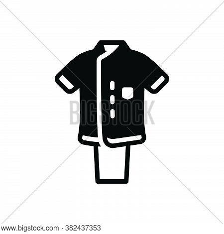 Black Solid Icon For Uniform Dress Costume Attire Toilette Habiliments Vestment Clothes Raiment Garm