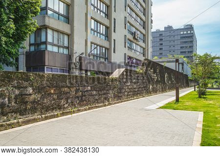 Remains Of Taipei Prison Wall In Taiwan