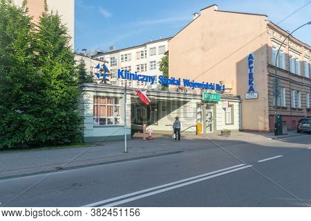 Rzeszow, Poland - June 13, 2020: Provincial Clinical Hospital Named After Fryderyk Chopin.