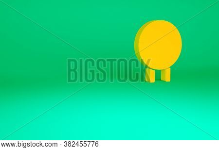 Orange Target Sport Icon Isolated On Green Background. Clean Target With Numbers For Shooting Range