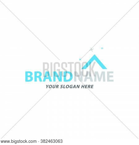 Creative Clean Rooftop Logo Design Vector Suit For Cleaning Business