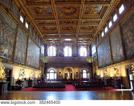 Florence, Italy - 13 Jul 2011: Palazzo Vecchio In Florence, Italy
