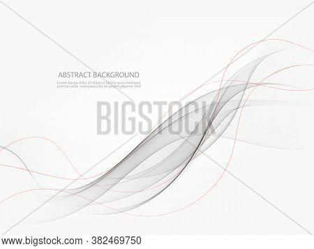 Abstract Modern Transparent Gray Certificate Design With Swoosh Speed Lines. Vector Illustration