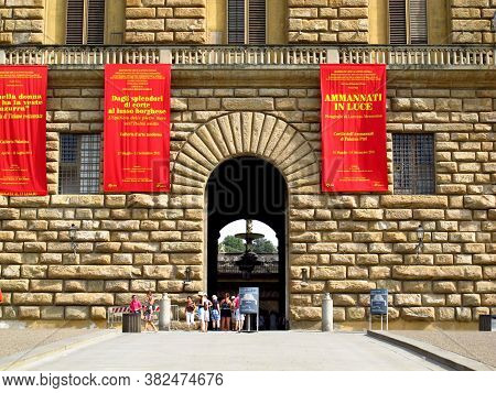 Florence, Italy - 13 Jul 2011: Pitti Palace In Florence, Italy