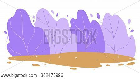 Forest In Windy Weather, Outdoors Landscape, Tranquil Scenery
