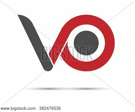 Stylized Lowercase Letters V And O Are Linked By A Single Line For A Logo, Monogram, Or Monogram. Ve