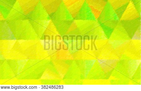 Lemon Green Color Pencil With High Coverage Background, Digitally Created.
