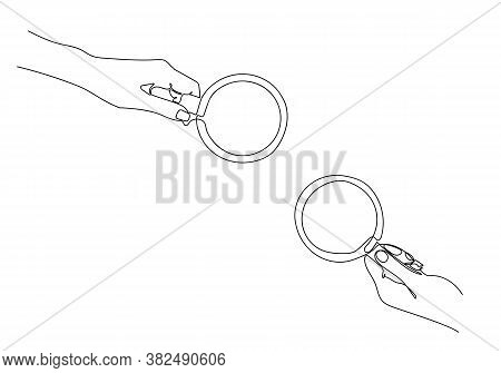 One Continuous Line Drawing Of Hands Holding A Cup Of Hot Coffee.