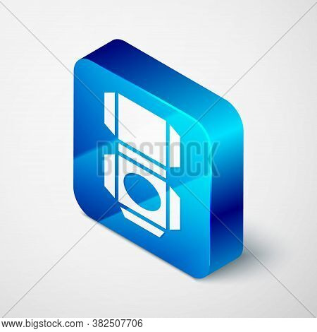 Isometric Carton Cardboard Box Icon Isolated On Grey Background. Box, Package, Parcel Sign. Delivery