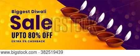 Festival Sale Banner Of Happy Diwali Occasion