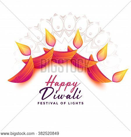 Attractive Diwali Decoration Background For Diwali Festival