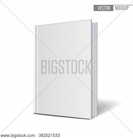 Vertically Standing Template Books On A White Background.