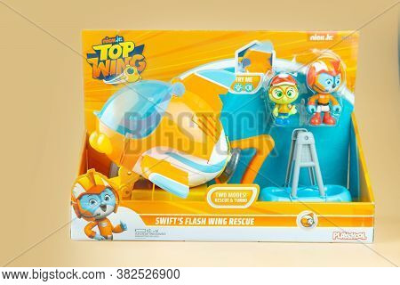 Samut Prakan, Thailand - August 26, 2020 : Cute Toy Of Top Wing Swift's Flash Wing Rescue In Set Sui