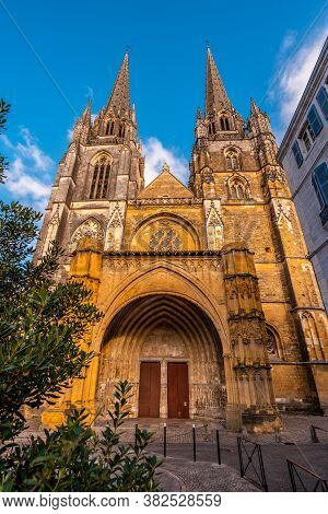 Cathedral Of Santa Maria In The Old Part Of The City Of Bayonne, Pyrenees Atlantiques. France