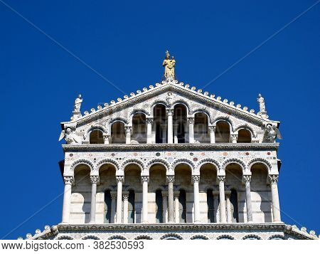 The Ancient Pisa Cathedral On Piazza Dei Miracoli, Italy