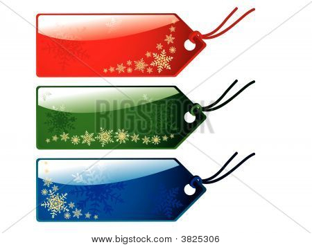 Glossy Christmas Tags