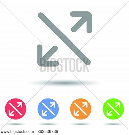 Maximize Arrow Icon Vector Logo With Isolated Background