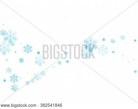 Crystal Snowflake And Circle Elements Vector Design. Cool Winter Snow Confetti Scatter Poster Backgr