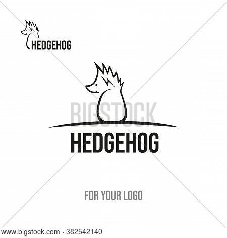Hedgehog With Thorns On The Head. Icon For Logo.