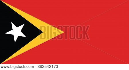 National Timor - Leste  Flag Official Colors And Proportion Correctly. National  Timor - Leste Flag
