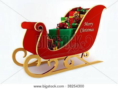 Christmas Sleigh With Presents