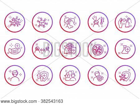 Simple Set Of Coronavirus Safety Related Vector Line Icons. Collection Of Linear Simple Web Icons Su