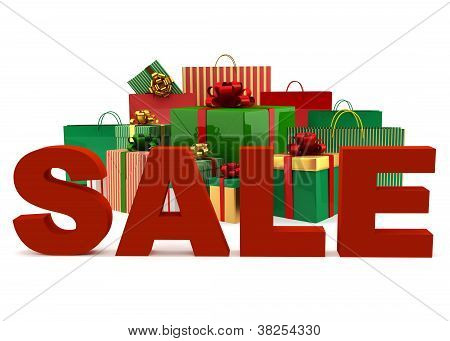 Christmas Bags And Boxes With A Word Sale