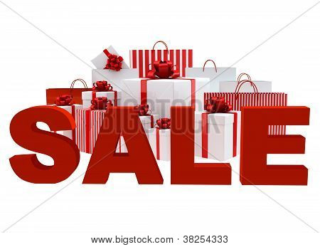 Bags And Boxes With A Word Sale