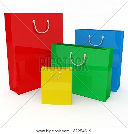 Four Colored Bags