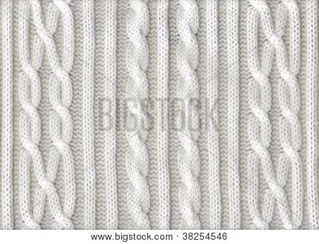 Knitted White Texture