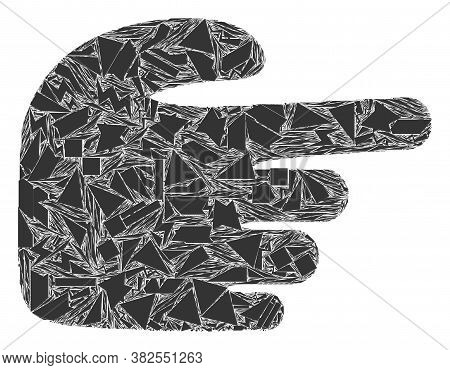 Debris Mosaic Right Index Finger Icon. Right Index Finger Mosaic Icon Of Debris Items Which Have Var
