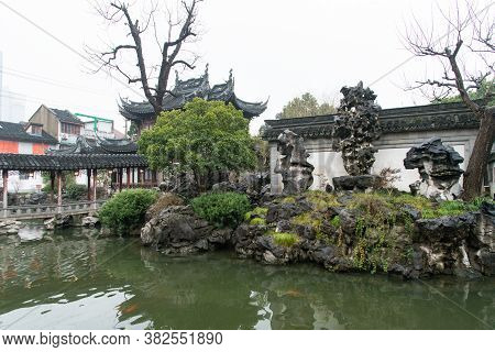 Shanghai. February 2019. Yuyuan Garden\nyuyuan Garden Is A Refined Garden Located North-east Of The
