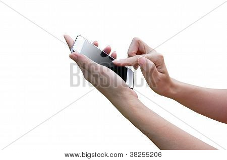 Isolated Woman Hand