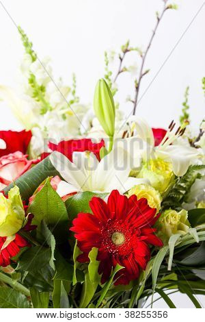 Bouquet of Flowers on white