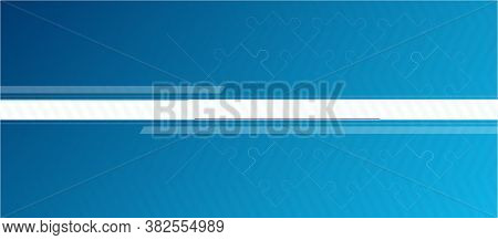 Banner For Facebook Social Network. Blue Abstract Background With White Stripes.